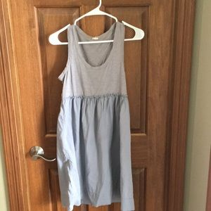 J crew gray sundress